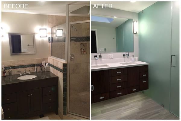 before and after bathroom remodel